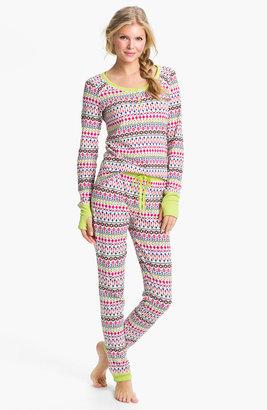 Steve Madden 'Cozy Up' Print Thermal Pajamas