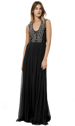 Rebecca Taylor Sleeveless Gown With Beading