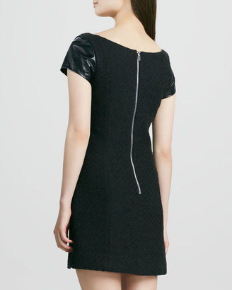 Milly Milla Dress with Leather Sleeves