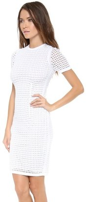 Alexander Wang Crochet Fitted Tee Dress