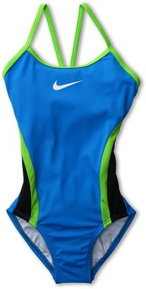 Nike Colorblock Cut-Out Tank (Big Kids) (Photo Blue) - Apparel