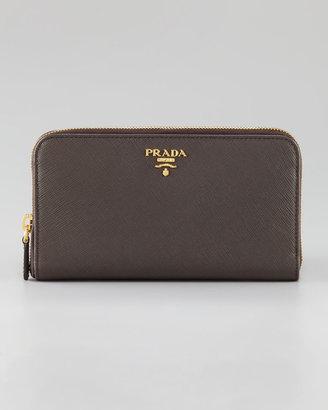 Prada Saffiano Zip-Around Wallet