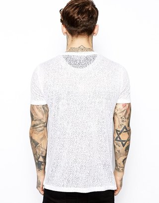 Asos T-Shirt With Tokyo Print And Leopard Burn Wash