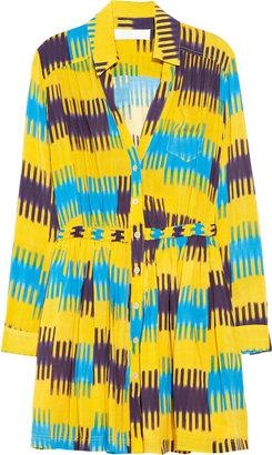 Thakoon Ikat-print shirt dress