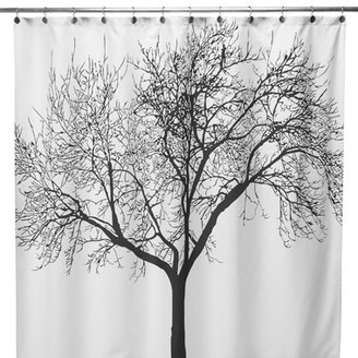 "Bed Bath & Beyond Black Tree Fabric 70"" x 72"" Shower Curtain"