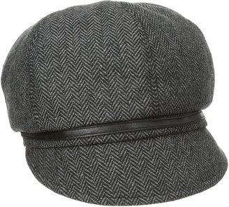 San Diego Hat Company Women's Belted Herringbone Newsboy Hat
