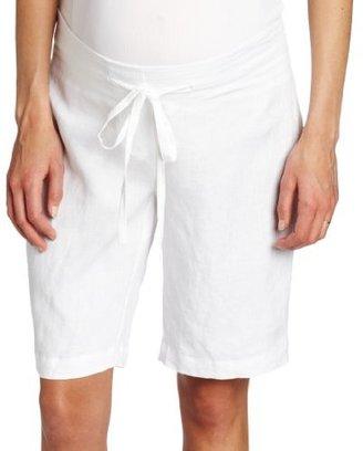 Ripe Maternity Women's Maternity Pure Linen Shorts