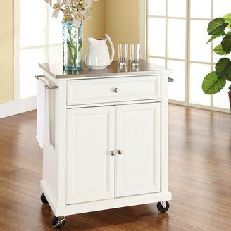 Crosley Kitchen Cart with Stainless Steel Top Base
