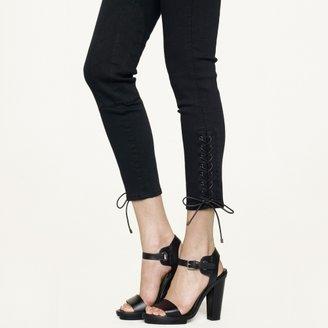 Ralph Lauren Black Label Denim Lace-Up 400 Ankle Jodhpur