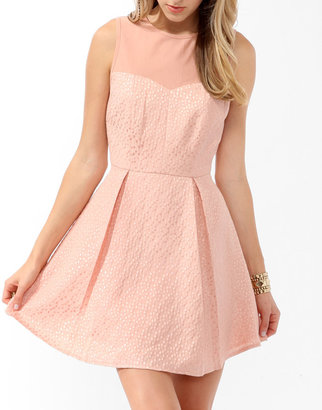 Forever 21 Pleated Brocade Dress
