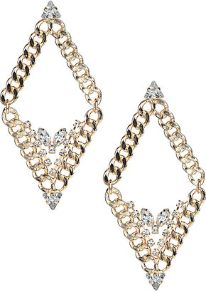 Topshop Curb Diamond Earrings