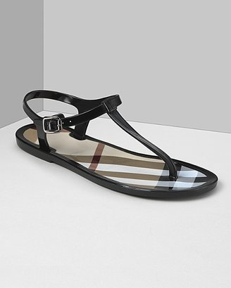 Burberry Women's Check Jelly Sandals