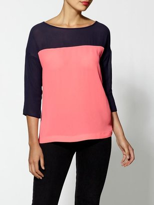 Eight Sixty Color Block Blouse