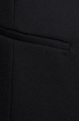 Helmut Lang Leather Sleeve Virgin Wool Blazer