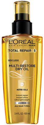 L'Oreal Hair Expert Total Repair 5 Multi-Restorative Dry Oil with Nut Oils, Normal to Fine Hair