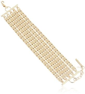 """Kenneth Cole New York """"Metal Boost"""" Square Link Multi-Chain Bracelet, 7.5"""""""