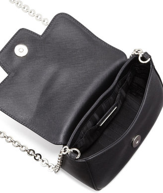 Salvatore Ferragamo Paris Saffiano Crossbody Bag, Black