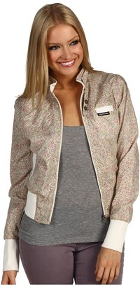Members Only Floral Cotton Classic Bomber Jacket (Pink/Ivory) - Apparel