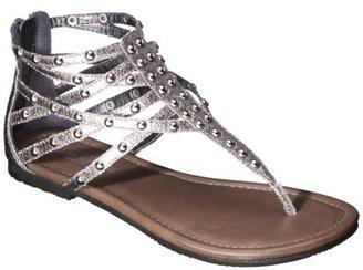 Mossimo Women's Odella Gladiator Stud Sandal - Pewter