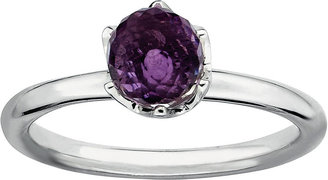 FINE JEWELRY Personally Stackable Genuine Amethyst Sterling Silver Stackable Ring $124.98 thestylecure.com