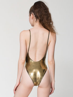 American Apparel The Shiny High Swimsuit