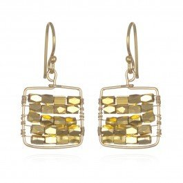 Wendy Mink Gold Square Earrings