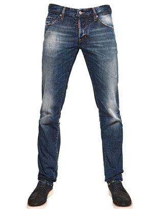 DSquared 19cm Distressed Slim Fit Denim Jeans