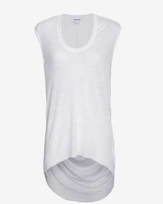 Helmut Lang Sleeveless Cowl Back Threadbare Top