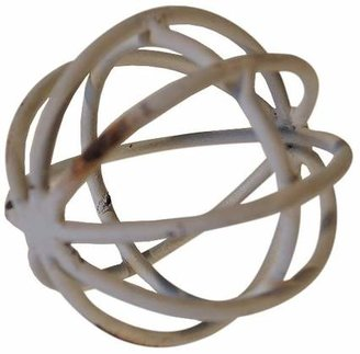 VIP Home & Garden Decorative Metal Ball White (3