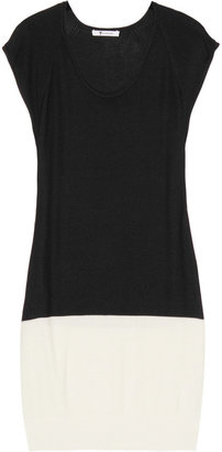 Alexander Wang Two-tone knitted mini dress