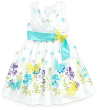 Bonnie Jean Little Girls' Floral-Print Butterfly Dress