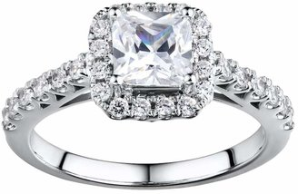 DiamonLuxe Sterling Silver 2-ct. T.W. Simulated Diamond Halo Ring