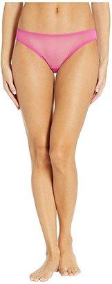 OnGossamer Solid Gossamer Mesh Hip Bikini 3202 (Peony) Women's Underwear