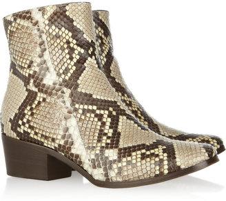 Jimmy Choo Brianna python ankle boots