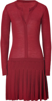 Hoss Intropia Maroon Merino Wool Dress