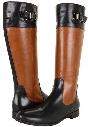 Aquatalia by Marvin K Drew (Black/Bark Calf) Women's Dress Zip Boots