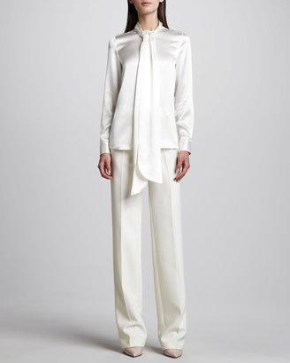 ADAM by Adam Lippes Straight Pants, Ivory