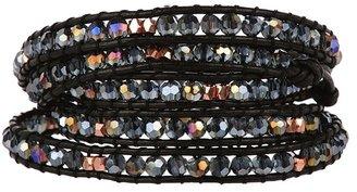 Nakamol Grey Beaded Wrap Bracelet