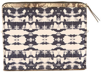 Cynthia Vincent Canvas Banker's Clutch