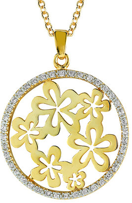 Reiss I.Reiss Diamond Gallery Round Floral Motif Pendant Necklace