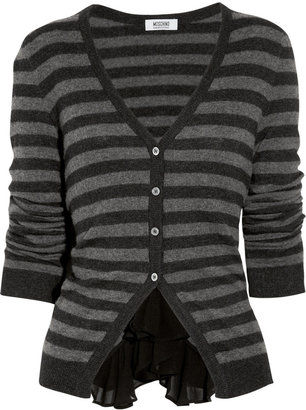 Moschino Cheap & Chic Moschino Cheap and Chic Striped knitted cardigan