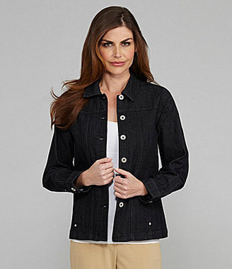Allison Daley II Button-Front Denim Jacket