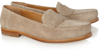 Jil Sander Suede penny loafers
