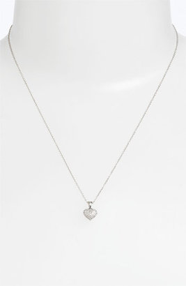 Nordstrom Bony Levy Pavé Diamond Heart Necklace Exclusive)