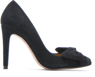 MANGO TOUCH - Leather bow pumps