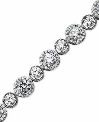 Arabella Sterling Silver Bracelet, Swarovski Zirconia Bracelet (22-9/10 ct. t.w.)