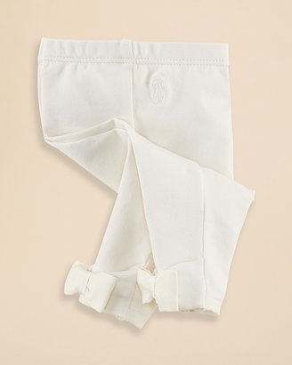 Ralph Lauren Infant Girls' Cassie Bow Leggings - Sizes 3-9 Months