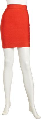 BCBGMAXAZRIA Power Stretch Mini Skirt, Bright Poppy
