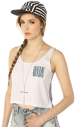 Vans The Animalistic Cropped Flo Pocket Tank Top in Zebra