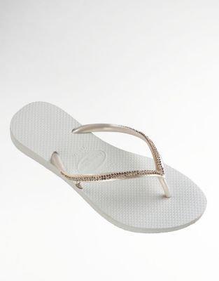 Havaianas Slim Crystal Mesh Flip Flops